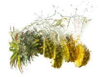 Ananasfärgstänk Arkivfoton