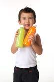 Ananasfruktsaft eller orange fruktsaft Arkivfoto