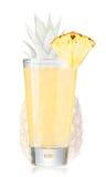 Ananasfruktsaft i highballexponeringsglas Arkivfoton