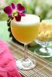 Ananasfruktsaft i naturbakgrund Royaltyfri Bild