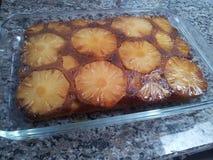 Ananaskaka Arkivfoto