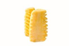 Ananasklumpen lokalisiert auf Weiß, Beschneidungspfad stockfotografie