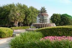 Ananasowa fontanna Charleston Południowa Karolina Obraz Royalty Free