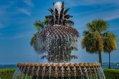 Ananasowa fontanna, Charleston SC Fotografia Stock