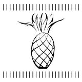 Ananasowa Wektorowa ilustracja ilustracji