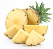 ananasowi plasterki Obrazy Stock