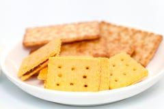 Ananasowy ciastko i koksu krakersa ciastko obraz stock