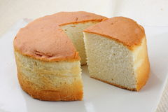 Ananasowy gąbka tort zdjęcie stock