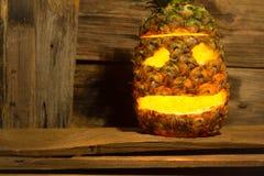 Ananasowy Halloween zdjęcie stock