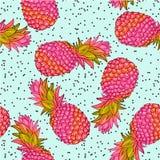 Ananasowy kreatywnie modny bezszwowy wzór Zdjęcia Stock