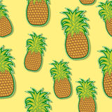 Ananasowy majcheru wzór Zdjęcia Royalty Free