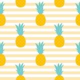 Ananasowy Naturalny Bezszwowy Deseniowy tło wektor royalty ilustracja