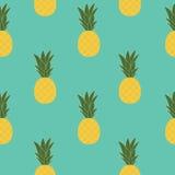 Ananasowy Naturalny Bezszwowy Deseniowy tło wektor Illustratio royalty ilustracja