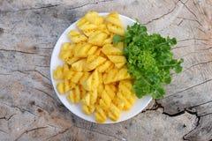 Ananasowy plasterek Zdjęcia Stock