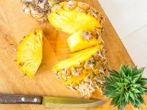 Ananasowy plasterek Fotografia Royalty Free