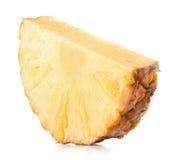 Ananasowy plasterek na białym tle obrazy royalty free