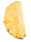 Ananasowy plasterek na białym tle Obraz Royalty Free