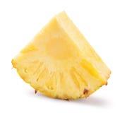 Ananasowy plasterek na białym tle Fotografia Stock
