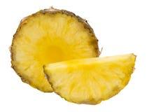 Ananasowy plasterek odizolowywający na białym tle Zdjęcia Royalty Free