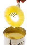 ananasowy rozwidlenie plasterek Fotografia Stock