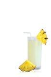 Ananasowy sok i ananasowy plasterek Zdjęcia Stock