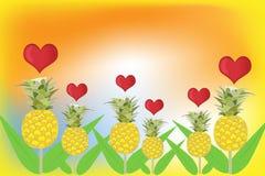 Ananasowy wektor Zdjęcia Stock