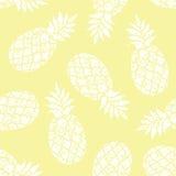 Ananasowy wektorowy bezszwowy wzór dla tkaniny, scrapbooking lub opakunkowego papieru, Zdjęcie Stock