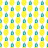 Ananasowy wektorowy tło Obrazy Royalty Free