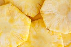 Ananasowych plasterków Zamknięty Up Fotografia Royalty Free