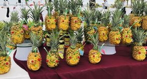 Ananaspartei lizenzfreie stockbilder