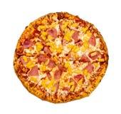 Ananaspizza Stockfoto
