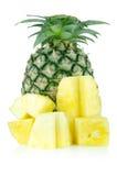 Ananasplak op geïsoleerd Royalty-vrije Stock Foto