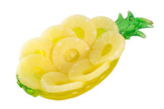 Ananasringe auf einem Weiß Lizenzfreies Stockfoto