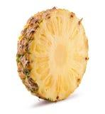 Ananasskiva på en vit bakgrund Arkivfoton