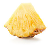 Ananasskiva på en vit bakgrund Royaltyfria Foton