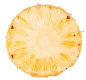 Ananasskiva som isoleras på vit bakgrund Fotografering för Bildbyråer
