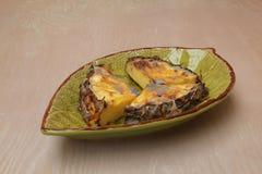 Ananassnitt in i delar Arkivbilder