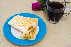 Ananastorte mit Kaffee Lizenzfreie Stockfotos