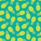 Ananasvektorbakgrund Färgrik tropisk textil p för sommar Fotografering för Bildbyråer