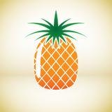 Ananasvektorsymbol royaltyfri illustrationer