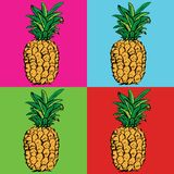 ananasy egzotyczne owoce tropikalne nakreślenie wzór zdjęcie royalty free