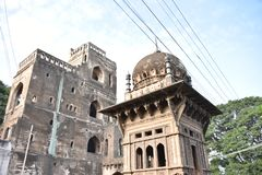 Anand Mahal Palace, Bijapur, Karnataka, Inde photo stock