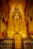 Ananda Golden Buddha statue. Golden Buddha statue in Myanmar, Ananda temple Royalty Free Stock Photography