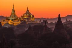 Ananda pagoda at dusk Stock Image