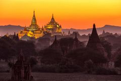 Ananda pagoda at dusk Royalty Free Stock Photo