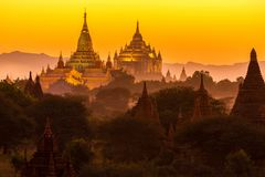 Ananda pagoda at dusk Stock Photography