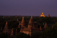 Ananda pagoda at night time. Royalty Free Stock Images