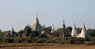 Ananda Paya Bagan. The famous Ananda Paya of Bagan, surrounded by other smaller pagodas. Bagan is a historic royal city in Myanmar with over two thousand Royalty Free Stock Image