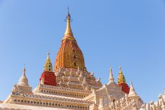 Ananda Phato, świątynia, arcydzieło Bagan, Myanmar fotografia stock