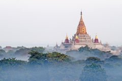 Ananda Phaya in the mist. Royalty Free Stock Image